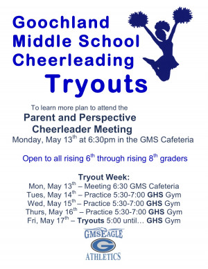 Cheer Quotes For Flyers Cheer tryout flyer