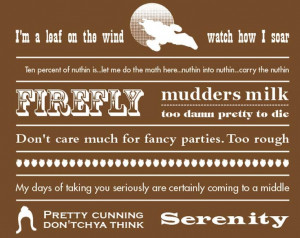 Serenity Firefly Quotes Poster Print 12 by 18 inches VI. $20.00, via ...