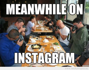Funny Picture - Meanwhile on instagram