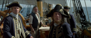 Gillette with Hector Barbossa aboard the Providence .