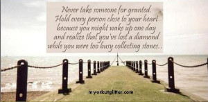 ... granted | Never Take Anything For Granted Grant Quotes, Living Quotes