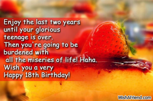 Happy 18th Birthday Quotes Very Happy 18th Birthday