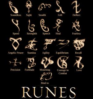 Mortal Instruments Shadowhunter Runes
