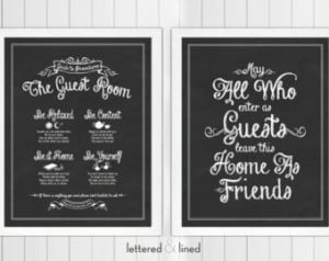 Guest Room Print Set: Guide To Proc edures and May All Who Enter As ...
