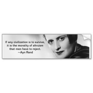 Ayn Rand quote Bumper Stickers