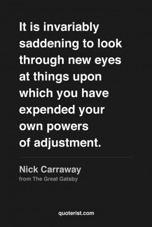 The Great Gatsby Nick Carraway Quotes