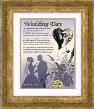 Framed Wedding Poem Wall Art