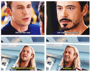 ... Captain America & Iron Man's Insults In The Avengers Picture Quote