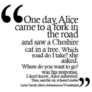alice's adventures in wonderland by lewis carroll quote made by ...