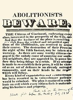 The Pro-Slavery Riot in Cincinnati