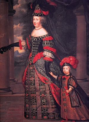 ... Louis XIV, with her son, Dauphin Louis of France by Pierre Mignardca