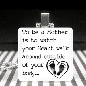 Mothers Day Jewelry Motherhood Quote Necklace New Mom Gift Baby ...