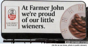 Hilarious and funny restaurant signs: At farmer John, we're proud of ...