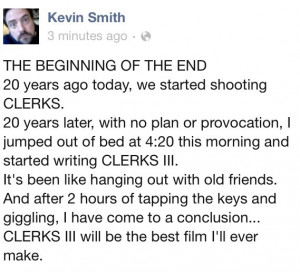Kevin Smith Announces CLERKS III