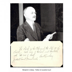 ... Lindsey Autograph Quote Juvenile Court Founder American Judge Colorado
