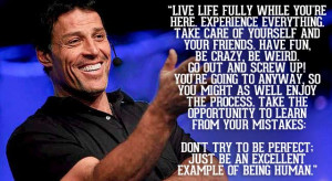 Tony Robbins Quote For Life Inspiration