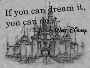 black and white, castle, disney, dreams, perfection, walt disney