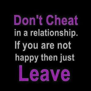 Sadly men rather cheat