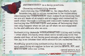 choose authenticity...