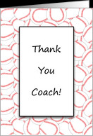 For Coach Thank You Baseball Coach Greeting Card-Baseball Background ...
