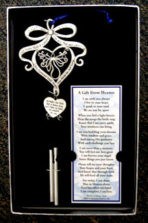 Memorial Poem Windchime - Gift from Heaven