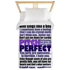 Pitch Perfect Quotes Bedroom & Bedding