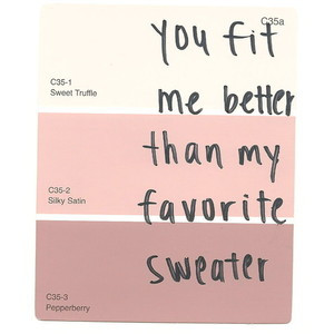 Paint swatch quotes