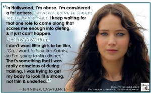 Jennifer Lawrence on being a