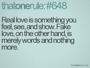 quote about fake love