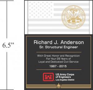 Sample USAF Service Recognition Wording (#294-2)