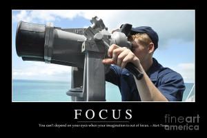 Focus Inspirational Quote Photograph