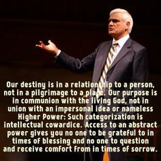 ravi zacharias quote on communion with a personal god more zacharias ...