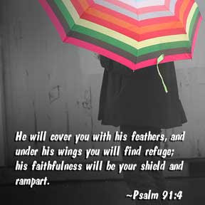... GOD isalways faithful to HIS promises .HE will protect us under HIS