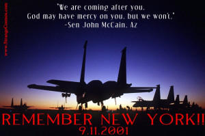 SEN JOHN McCAIN QUOTE WITH JET SILHOUETTES