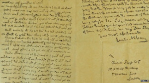 Historic Admiral Lord Nelson letter up for auction