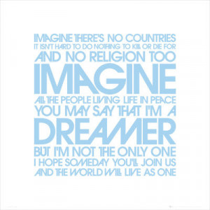 John Lennon: Imagine Lyrics Poster - 2009