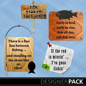Fishing Word Art #1 from LLL Creations