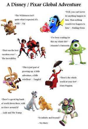 Disney & Pixar Travel Quotes