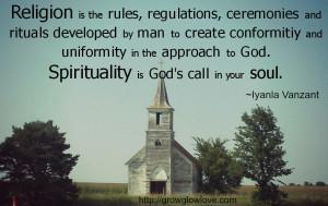 religion and spirituality iyanla quote