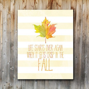 Printable Fall Art Print, Fall Quote, Home Decor by madebykatydesigns ...