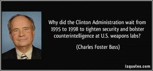 Why did the Clinton Administration wait from 1995 to 1998 to tighten ...