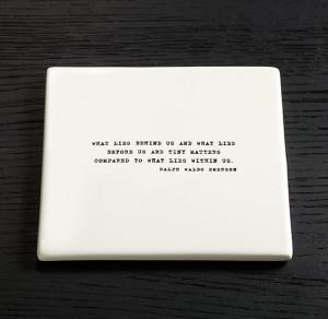Literary Quote Coasters, Ralph Waldo Emerson - 4