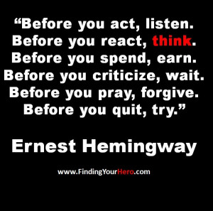 too late to start thinking and acting like a HERO. Stop criticizing ...