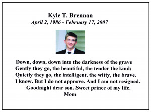 In Memoriam: Scientology Victim Kyle Brennan
