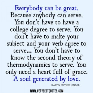 anybody can serve quotes, Martin Luther King Jr quotes