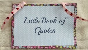 Special Quote Book Keepsake