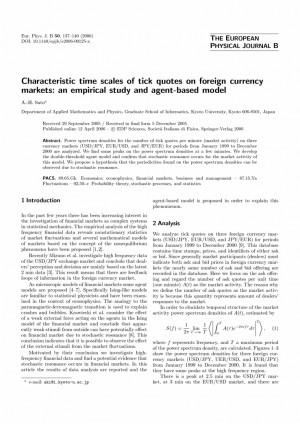 Characteristic time scales of tick quotes on foreign currency markets ...
