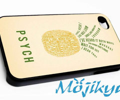 Psych Pineapple Quotes Case For Your iPhone 4/4s iPhone by Mojikyu