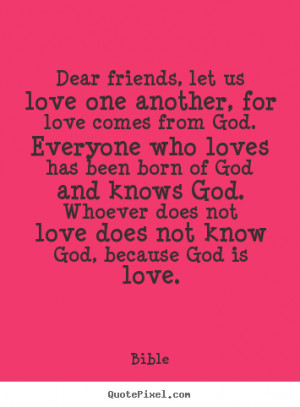 bible quotes about friendship and love