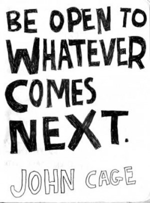 inspiration, john cage, quotes, text, words